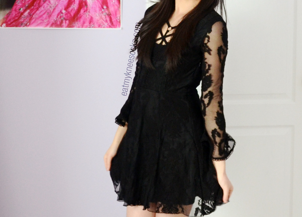 SheInside's dupe of the Free People Reign Over Me lace v-neck dress is less than a quarter of the original price!