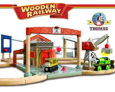 Model train Thomas and Friends Wooden Railway Diesel Works Set Diesel 10 Percy the tank engine toys