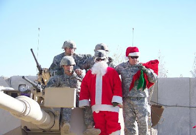 Christmas and soldiers