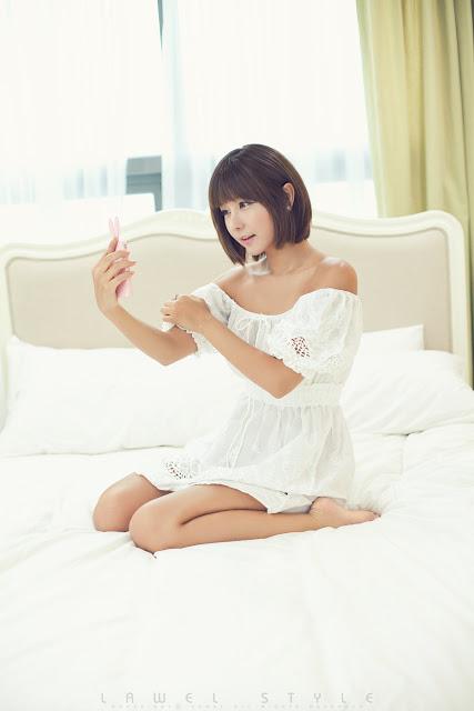 2 Ryu Ji Hye in White-Very cute asian girl - girlcute4u.blogspot.com