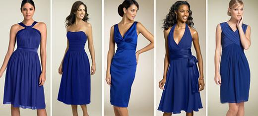 Vestido azul royal esmalte