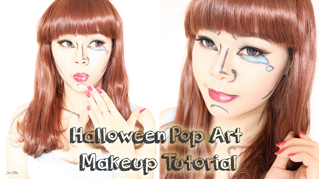 halloween makeup : easy pop art | video tutorial | jean milka