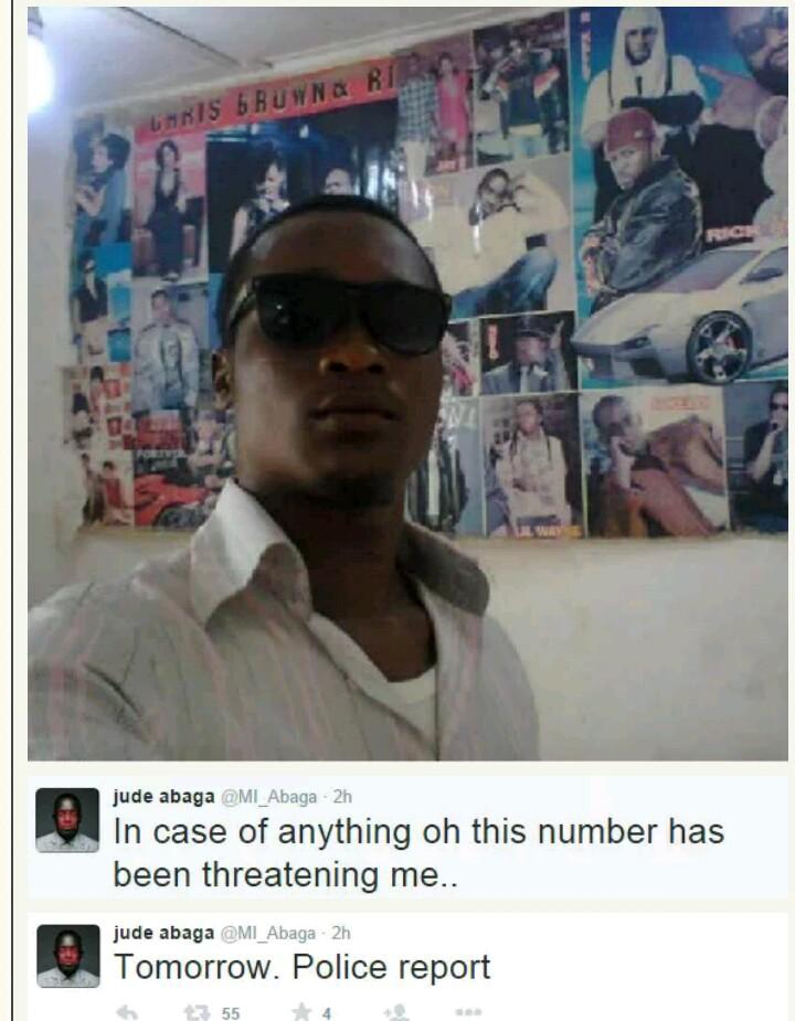 M. I abaga, Nigerian rapper, chocolate city, choc boys, M.I under death threat, man threatening to kill M.I, Sophie David, Sophiestylish