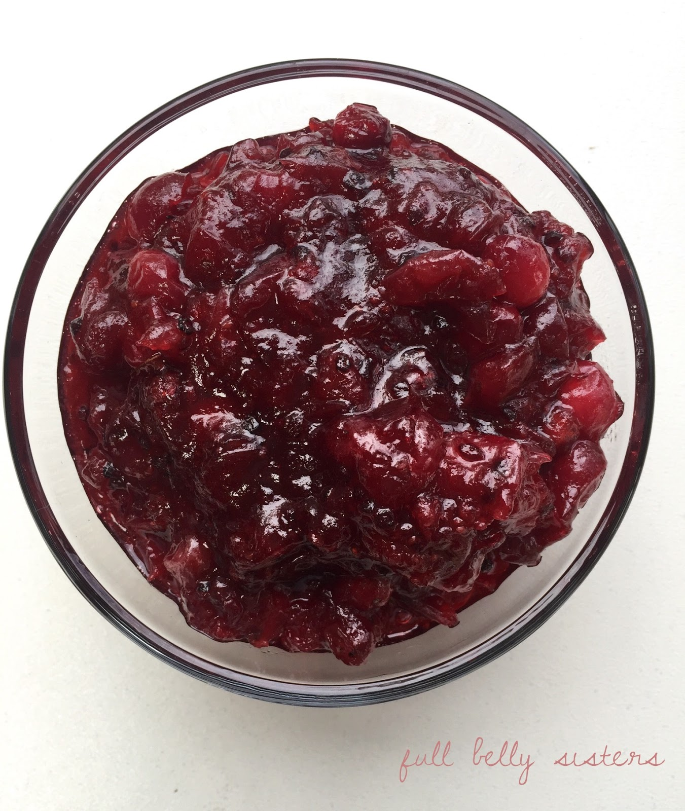 Full Belly Sisters: Crazy Easy Fresh Cranberry Sauce