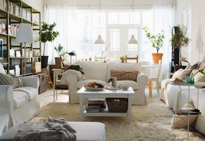 Desain Interior Ruang Tamu Minimalis Putih