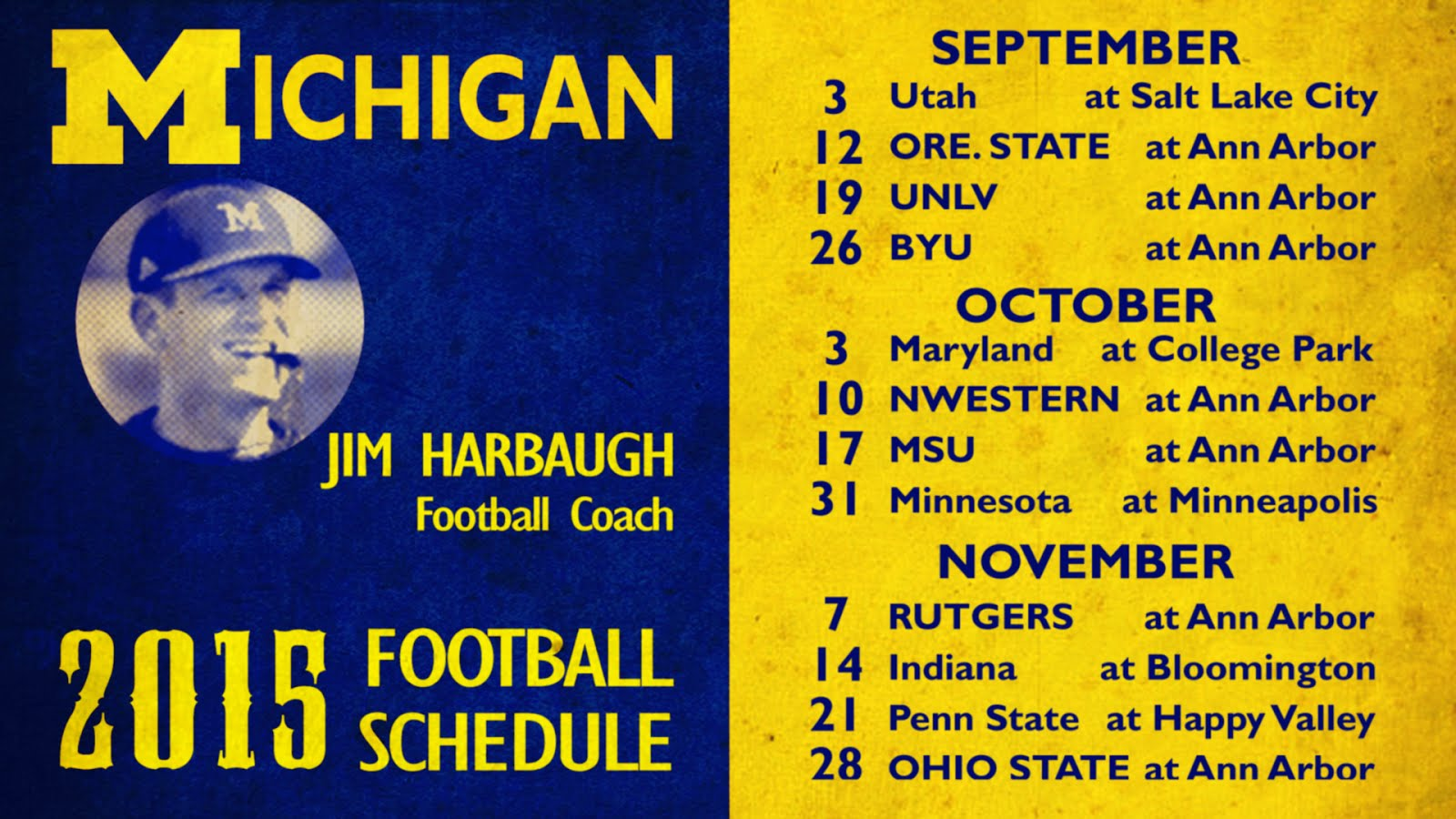 2015 Michigan Football Schedule
