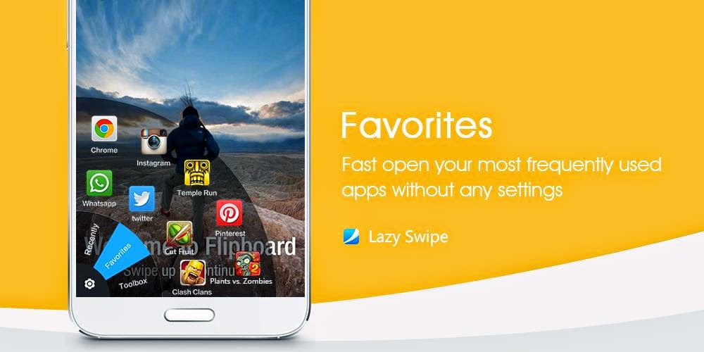 Lazy Swipe best App for Shortcut