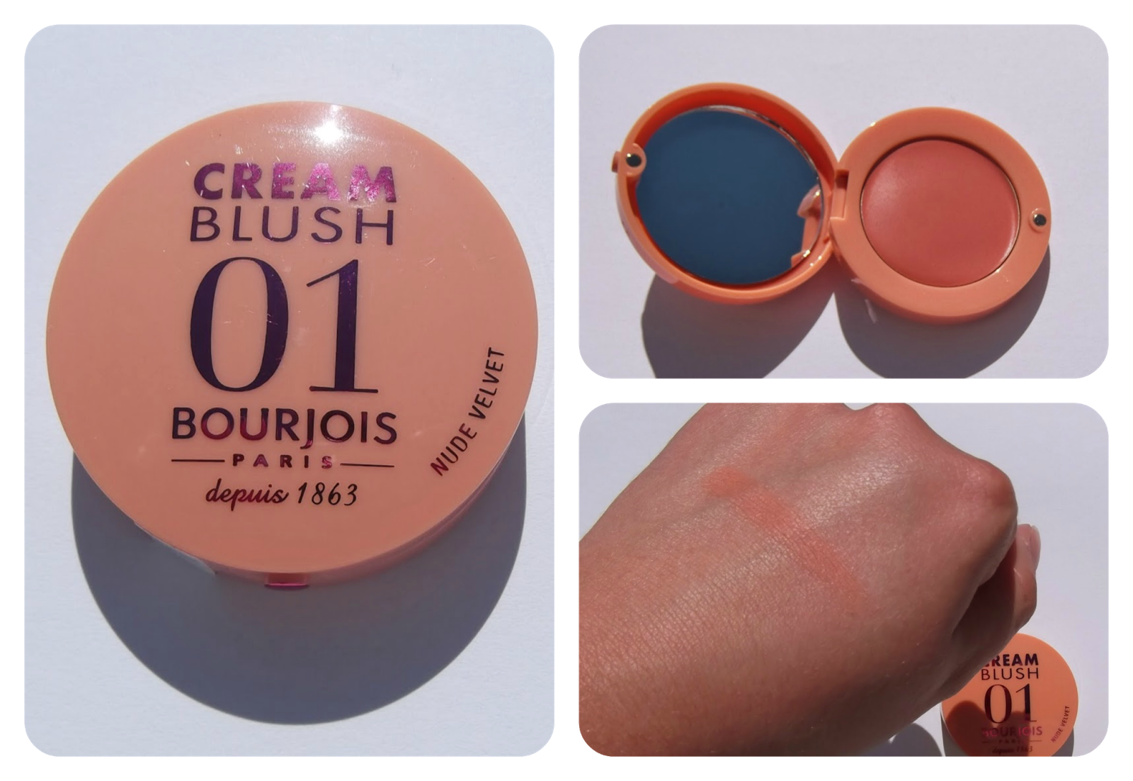 Bourjois Cream Blush in Nude Velvet swatch review