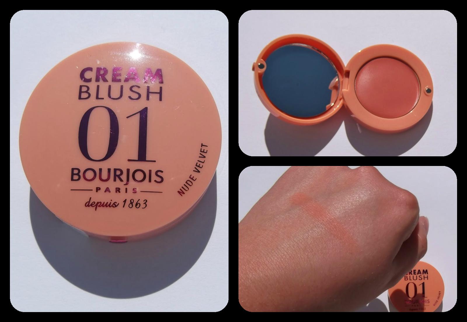 Bourjois Cream Blush in Nude Velvet swatch review