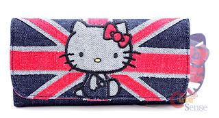 Hello Kitty London England Union Jack Purse Wallet