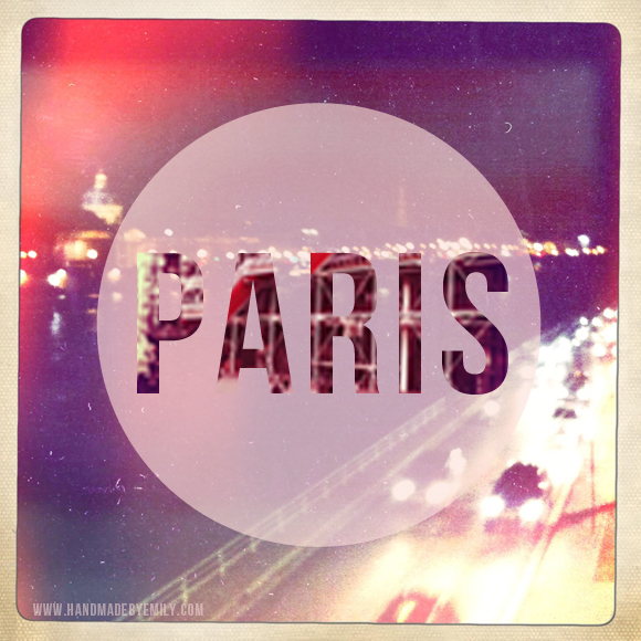 paris typography design