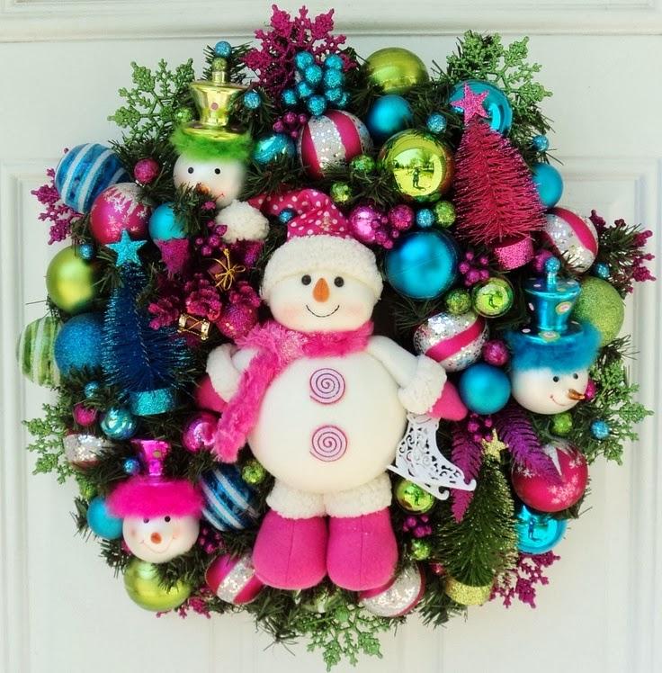 Coronas navide as con estilo cositasconmesh for Figuras de nieve navidenas