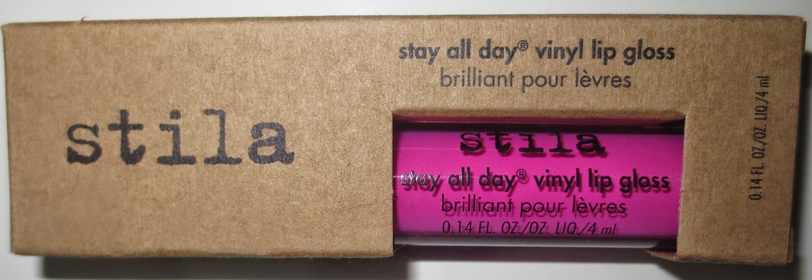 Stila Stay All Day Vinyl Lip Gloss Hot Pink Vinyl Packaging