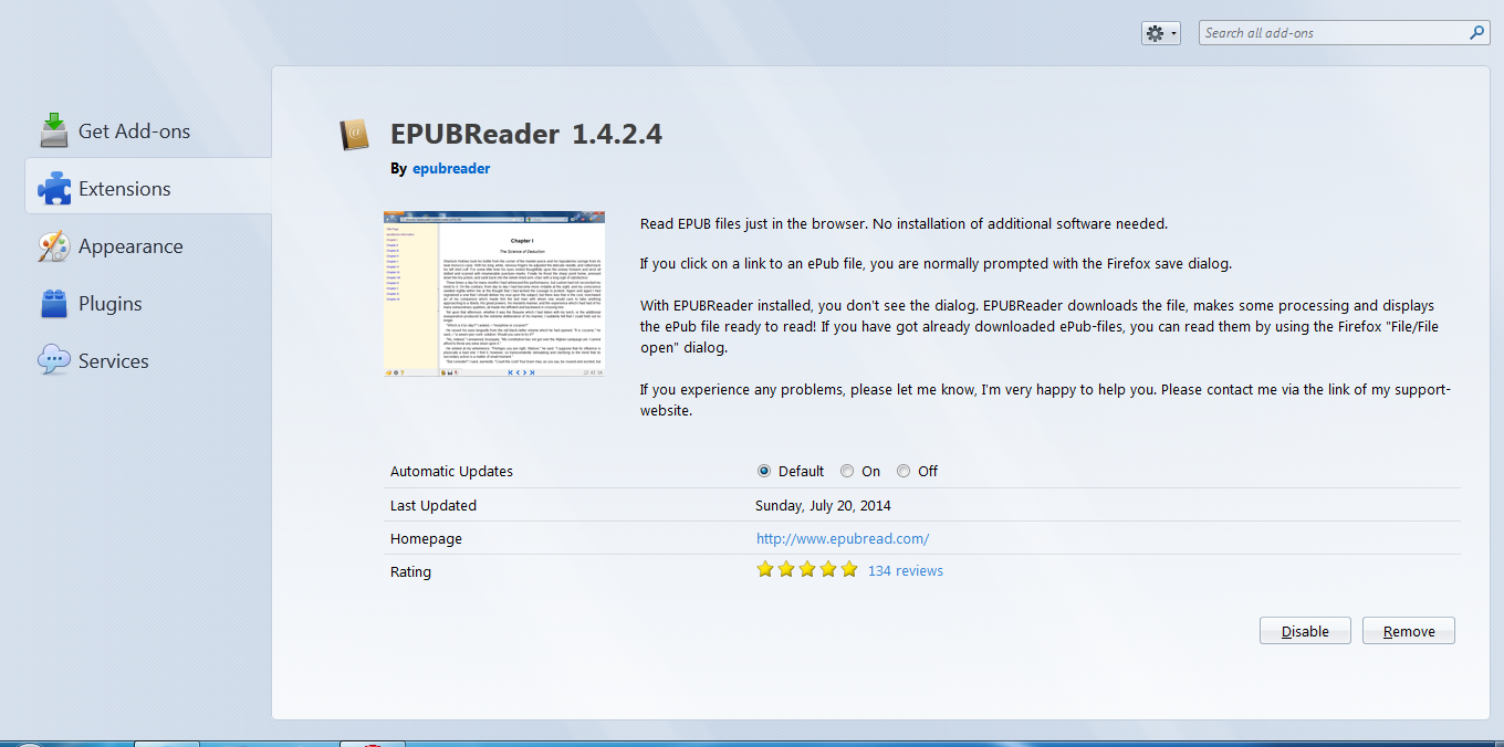 how to read epub files on mozilla