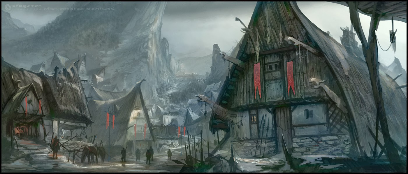 Vilarejo Frozen Moon Picture-landscape-snow-concept-art-fantasy-town-village_217917
