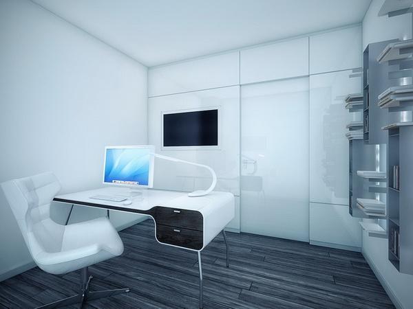 Moderne appartement en noir et blanc d cor de maison - Chambre moderne noir et blanc ...