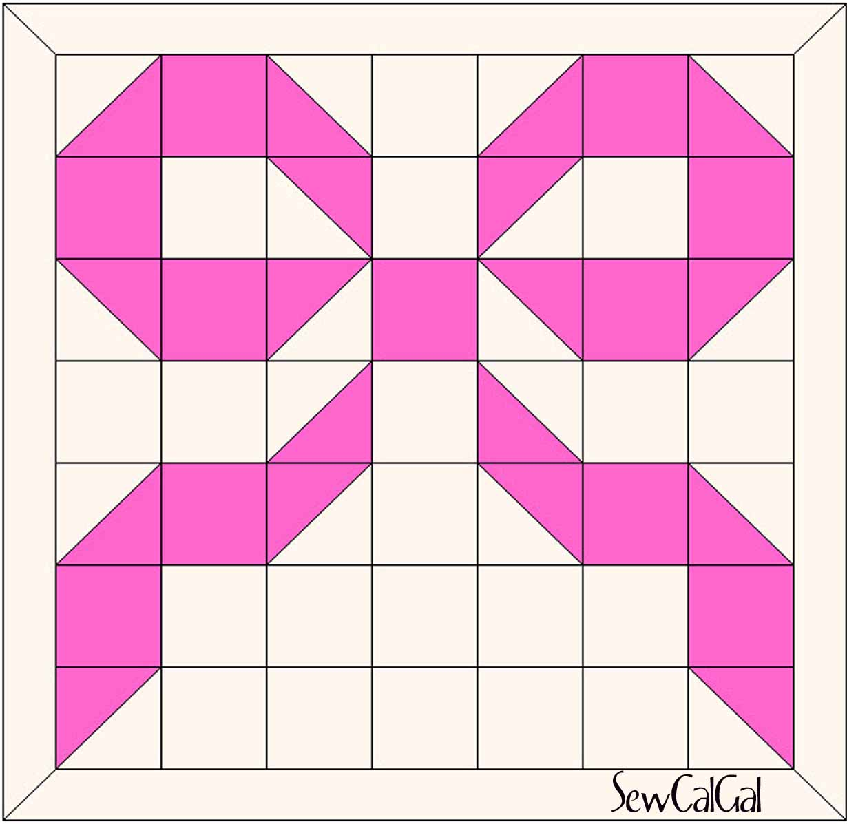 Breast Cancer Awareness Ribbon Quilt/Block Tutorial QuiltShopGal