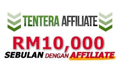 sebuah gambar yang menunjukkan tentera affilite, RM10,000 sebulan dengan affiliate