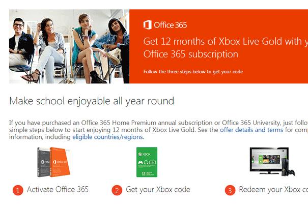Subscribe Office 365 Gratis Akun Xbox Live Gold Setahun, Sayangnya Tidak Berlaku di Indonesia