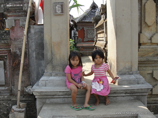 children in Penglipuran Village in Bali, Indonesia
