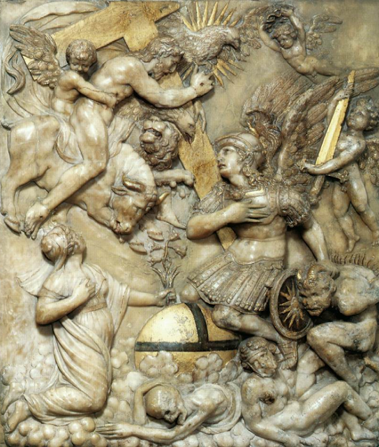 """""""Christ, Savior of Mankind"""" - Unknown Flemish master, 1590s, Alabaster."""