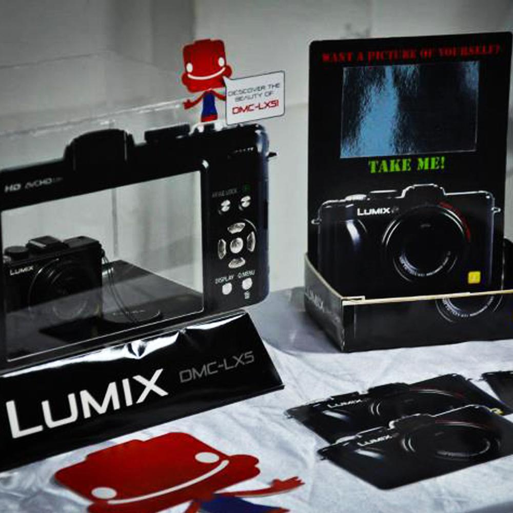 Lumix roadshow exhibition P.O.P design | Estelle Lai