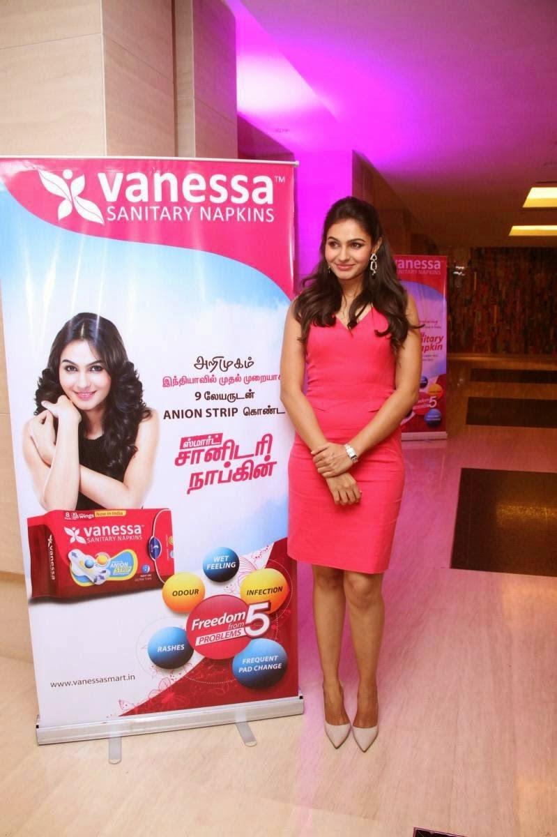 Andrea Jeremiah latest Stills At Vanessa Sanitary Napkins Launch