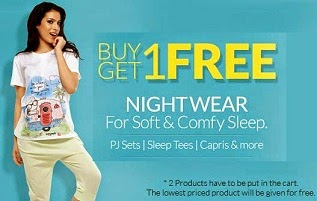 Buy 1 Coucou Ladies Nightwear Get another Free @ Zivame