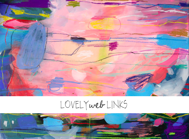 Lovely Web Links by Lesley Myrick - weekly link roundup of business, productivity, art, design, parenting, and fun. Featuring 25 self-improvement books that will make you a better person; 25 apps to make your life easier from TED; free handwriting fonts from Making Nice in the Midwest; no-carve Halloween pumpkin ideas from A Beautiful Mess; best gifts for a new mom from Love Taza, and more. Image by Jenny Andrews-Anderson. #lovelyweblinks