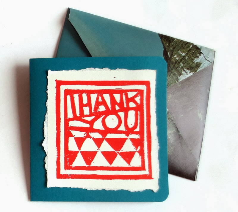 Card made using image from Thank you stamp