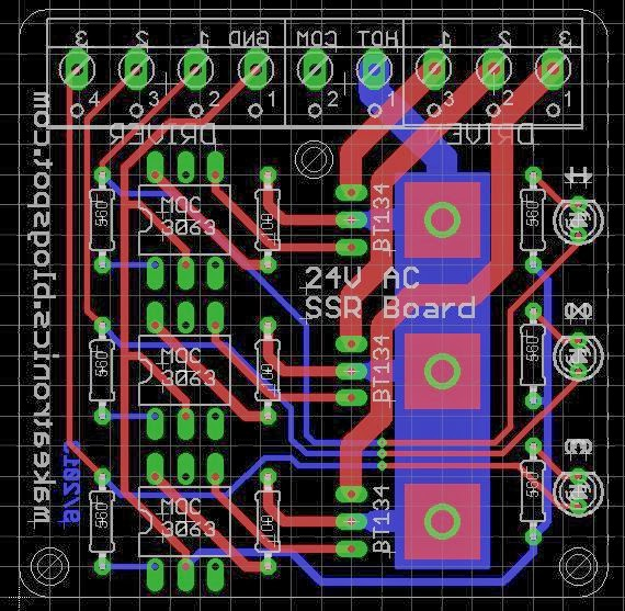 Makeatronics V AC Solid State Relay Board - Solid state relay using triac