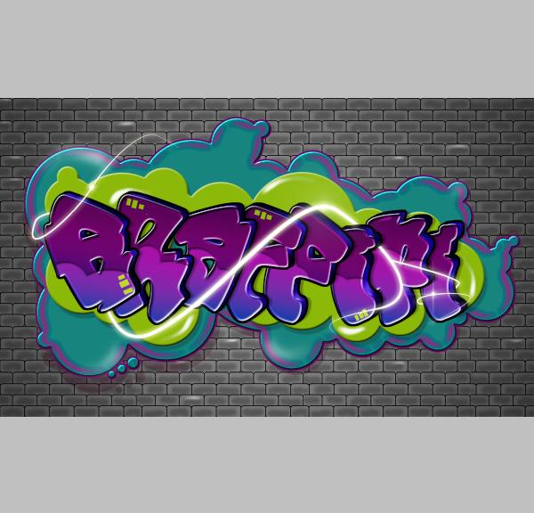 граффити текст для фотошопа сетки