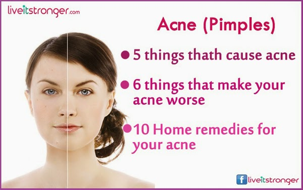 pimples cause, types