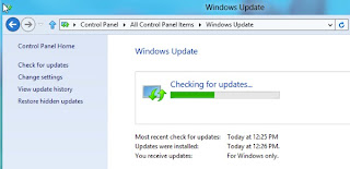 Windows 8 Metro Apps,Run Windows Update