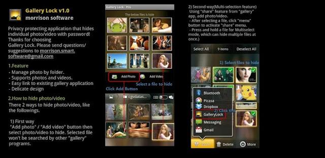 Mobile Gallery Lock Folder Lock Software Hide Pro V Apk App