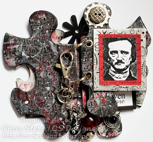 Edgar Allan Poe Altered Puzzle Piece Book