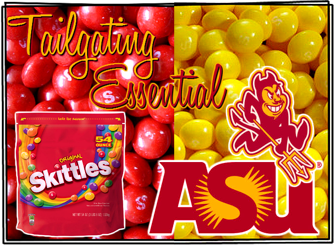 Grab this 54oz Skittles zipper pouch and be ready with your team colors come game day! #SamsClubTailgating Essentials #sp