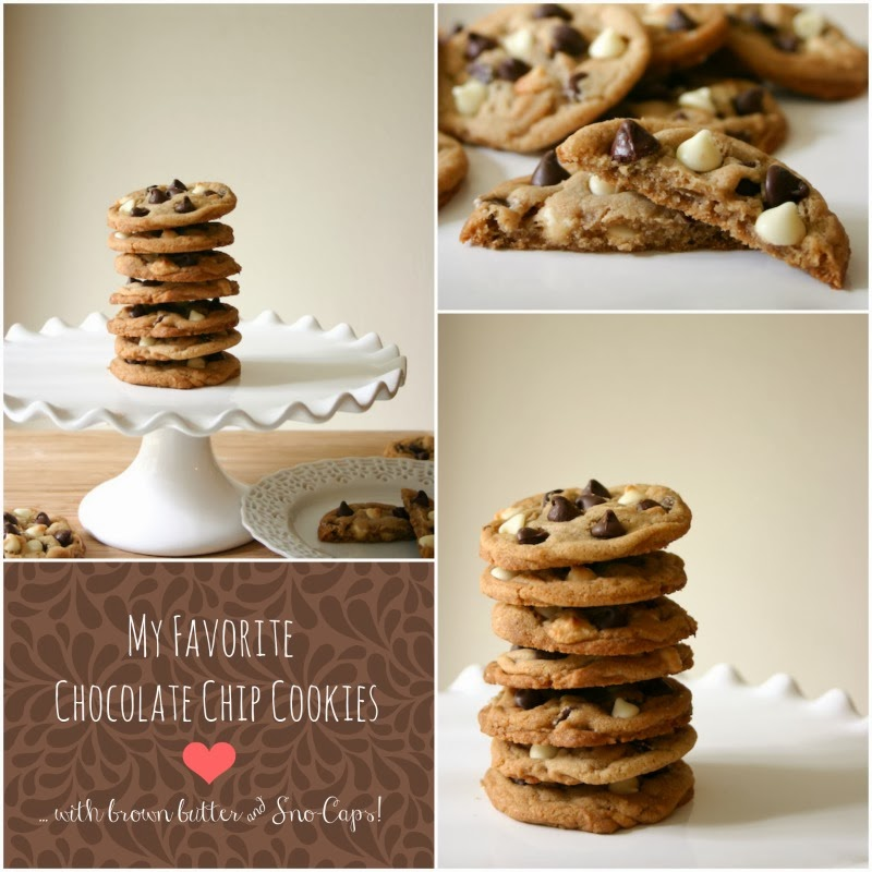 Bakergirl: My Favorite Chocolate Chip Cookies {with Sno-caps!}