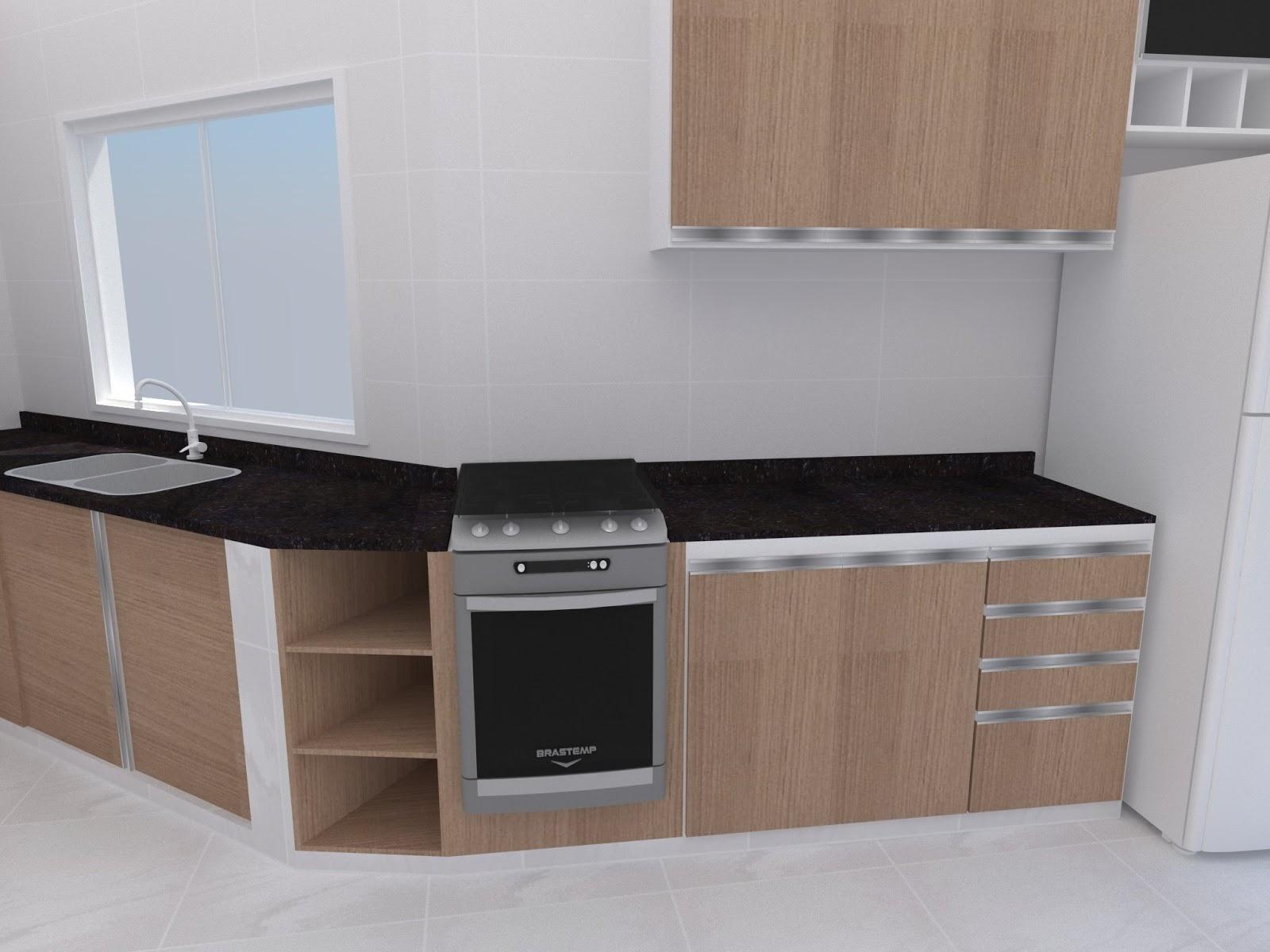 Wellington Designer Interiores: Projeto Residencial de Cozinha #486683 1600 1200