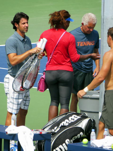 Serena Williams Patrick Mouratoglou 2013 US Open