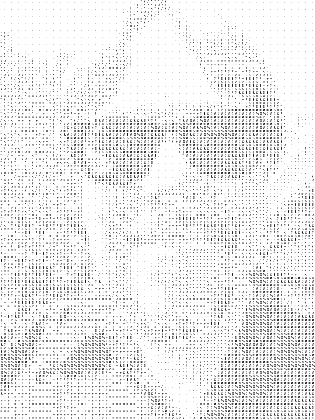 One Line Ascii Art Party : All this is that remembering mainframe ascii printouts