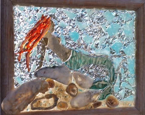 recycled coastal glass art