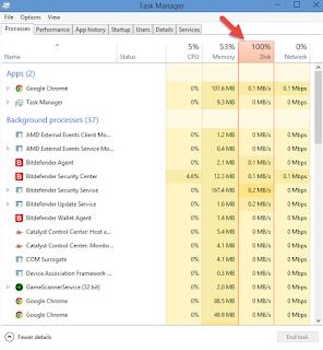 100% Disk Usage fix