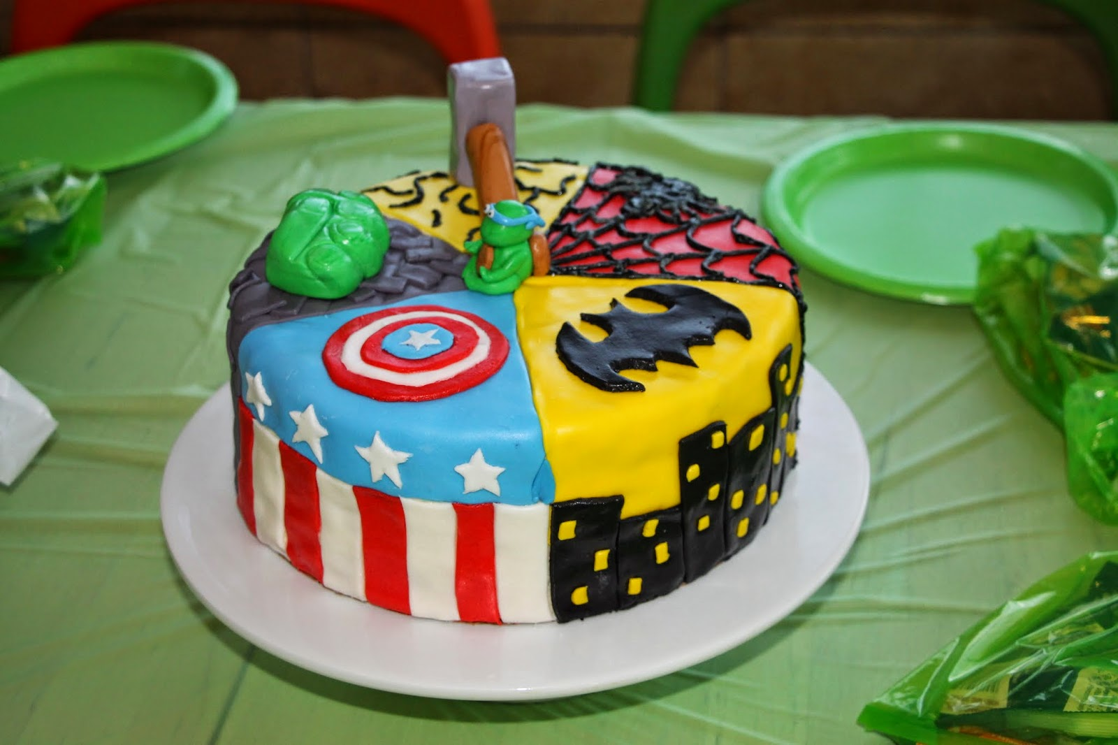 Superhero Cake For A Super Cool Kid