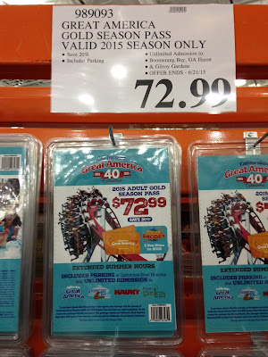 2015 California's Great America Adult Gold Season Pass at Costco