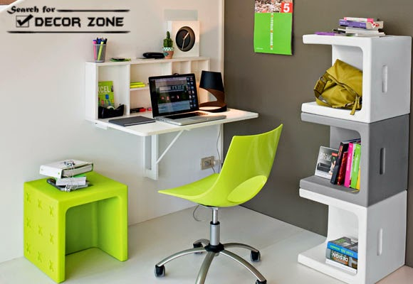 small office design ideas office furniture hanged desk shelves and small table - Small Office Design Ideas