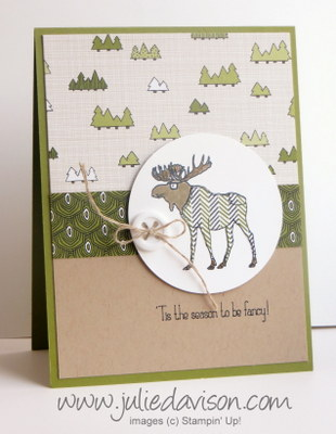 Stampin' Up! Visions of Santa Moose Card + Paper Piecing Video Tutorial