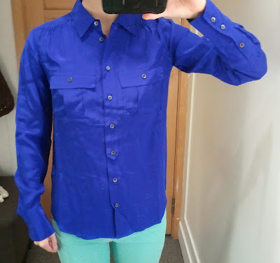 J. Crew Blythe Blouse in Silk in Byzantine Blue