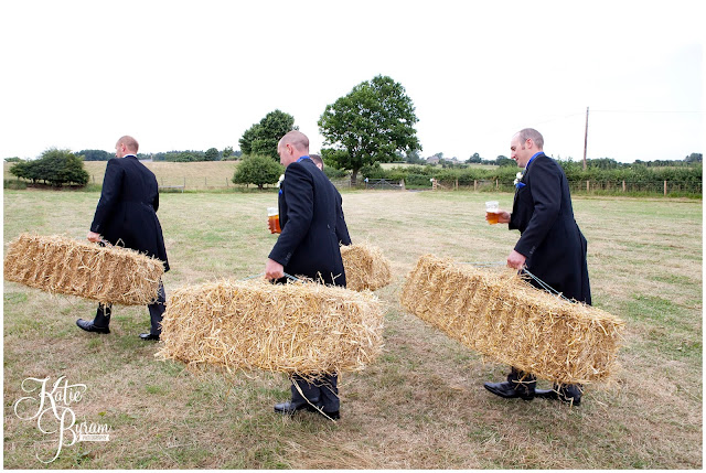 straw bales, hay bales wedding, whitley chapel, st helens church wedding, whitley chapel wedding, curly farmer, katie byram photographer, one digital image, northumberland wedding photographer, wedding wellies, wedding jewellery