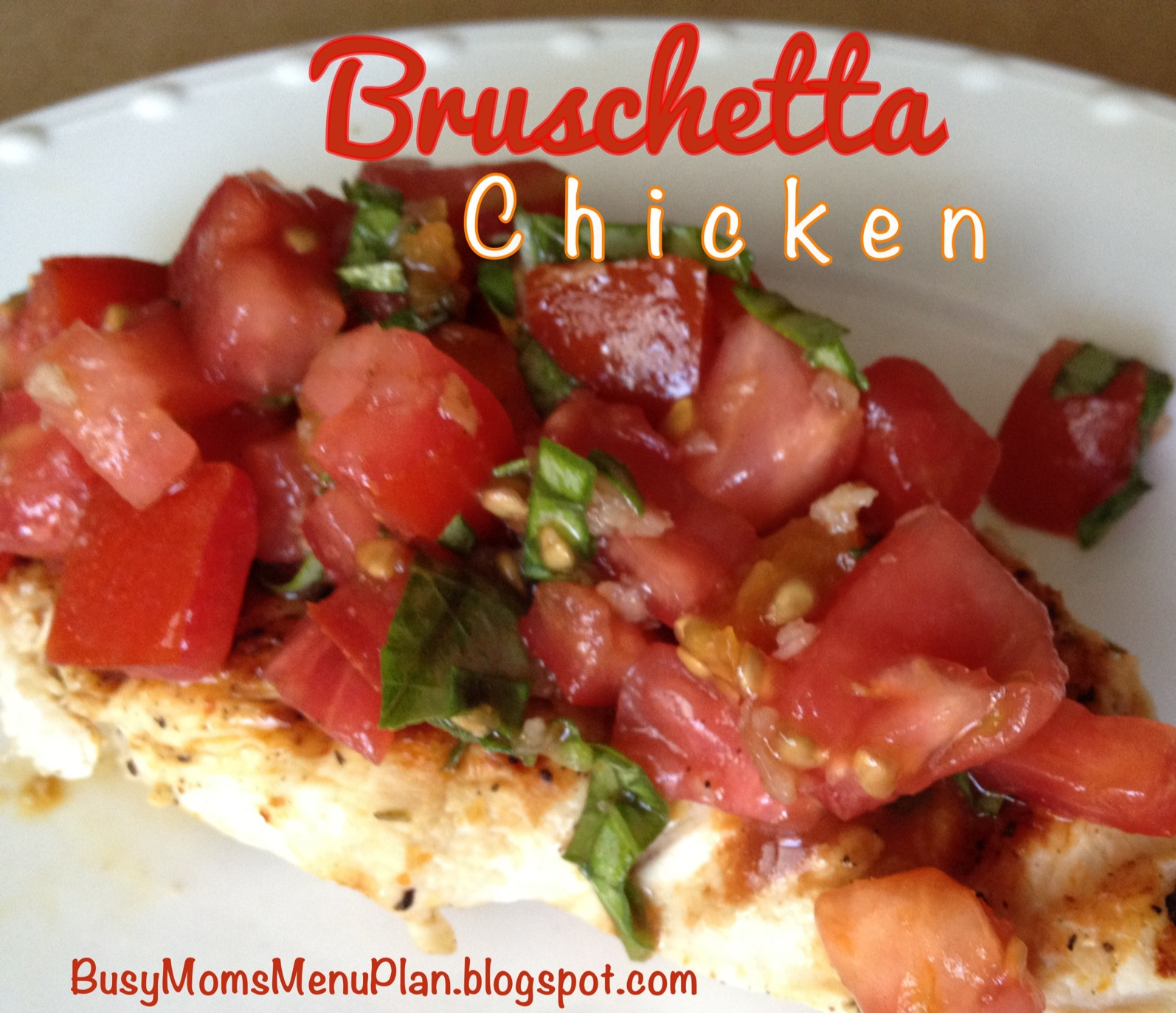 have any extra bruschetta mixture leftover spread over toasted bread ...